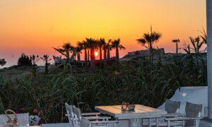 Sunset Koubara seafood restaurant - Beach bar -Ios